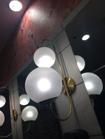 lighting in the restroom