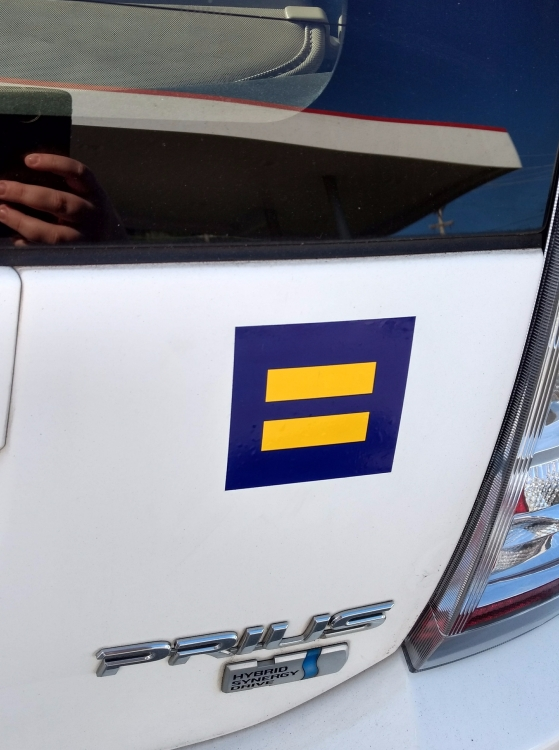 HRC sticker on the Prius