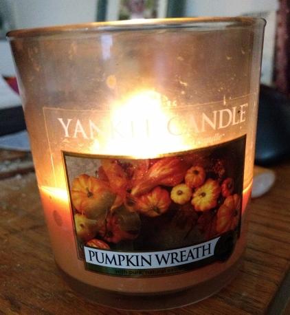 Pumpkin Wreath Candle