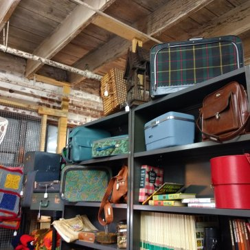 All that vintage luggage!