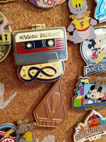 I'm proud of my Mission Breakout pins (the most pins I have for one attraction that I've not seen yet!)